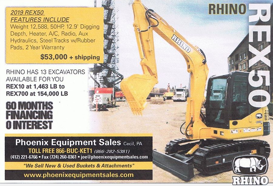 New Rhino Excavator - $53,000 plus shipping